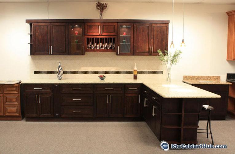 RTA Kitchen Cabinets Chocolate Mahogany RTA Cabinet Hub