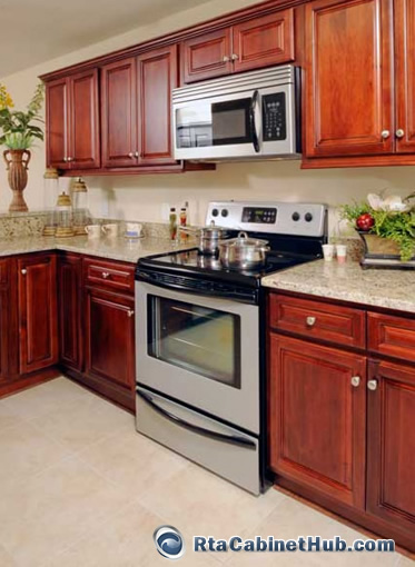 RTA Kitchen Cabinets Randolph Walnut RTA Cabinet Hub