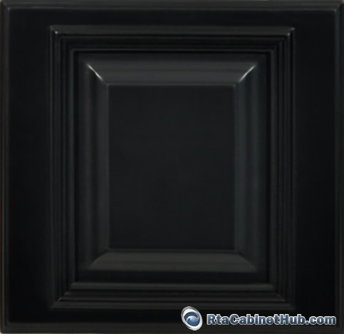 Rta kitchen cabinets signature black rta cabinet hub for Black kitchen cabinet doors